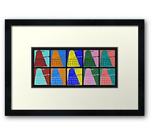 Pop art Daleks - variant 1 Framed Print