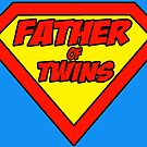 Superdad father of twins by Brett Gilbert