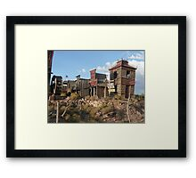 Old West Town Replica. Framed Print