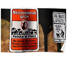 Neighborhood Watch Poster