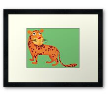 Cute baby leopard Framed Print