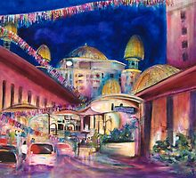 Sunway Play By Night by Cathy Gilday