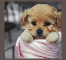 Puppy in a blanket Kids Clothes