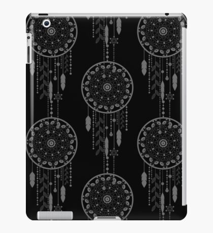 Seamless vector illustration with dream catchers iPad Case/Skin