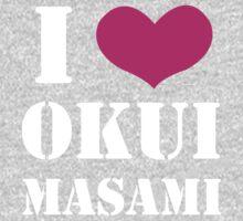 I Heart Okui Masami in White One Piece - Long Sleeve