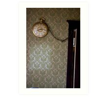 What is a clock without its batteries? Art Print