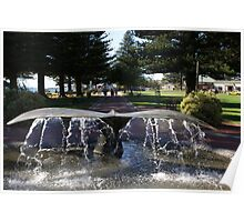 the Whale Tail fountain, Victor Harbor Poster