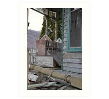 abandoned house and... dollhouse Art Print
