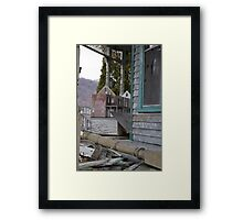 abandoned house and... dollhouse Framed Print