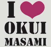 I Heart Okui Masami in Black by luckybento