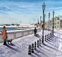 """Footprints in the Snow"" - Burnham-on-Sea, Somerset by Timothy Smith"
