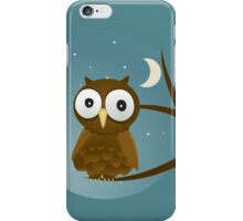 Big Eyed Owl Perched On A Branch T Shirt iPhone Case/Skin