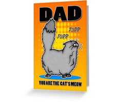 Dad Card Birthday Or Father's Day Cat's Meow Greeting Card