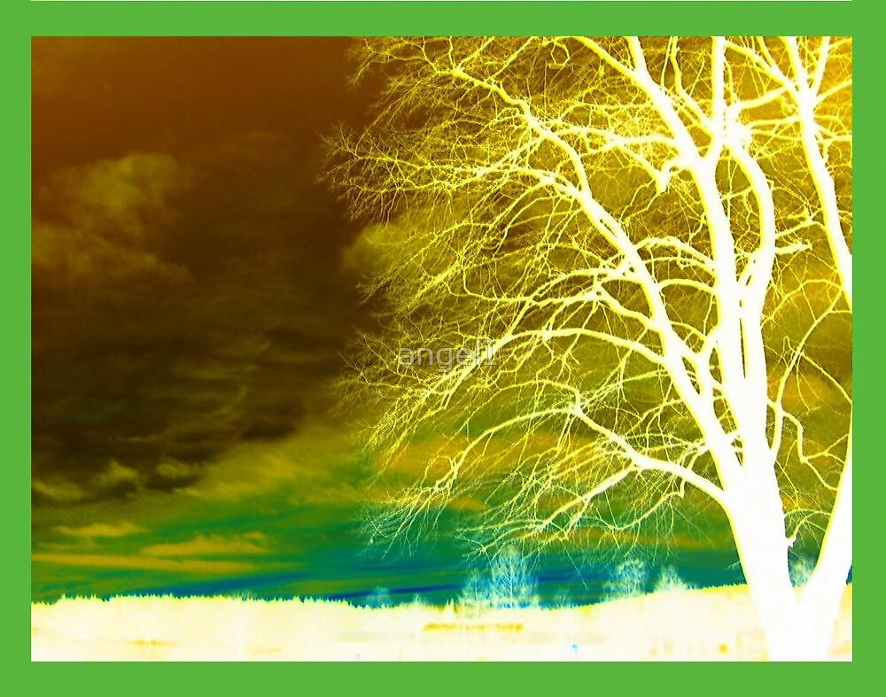 Abstract Green Tree Inversion by ©The Creative  Minds