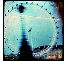 london eye through the taxi window Photographic Print