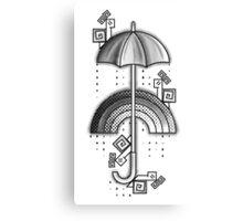Under the rain - Monochrome Canvas Print