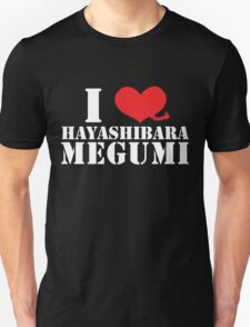 I Heart Hayashibara Megumi - Pigtail Black T-Shirt