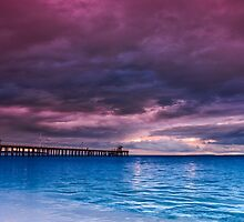 Stormy Morning at Point Lonsdale Pier by Jason Green