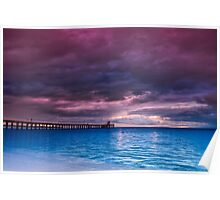 Stormy Morning at Point Lonsdale Pier Poster