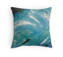 Sea Abstract Throw Pillow