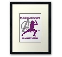 Hawkeye in The Avengers Framed Print