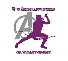 Hawkeye in The Avengers Photographic Print