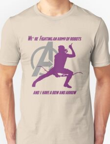 Hawkeye in The Avengers T-Shirt
