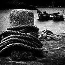 Bollard & Boats by Richard Hamilton-Veal