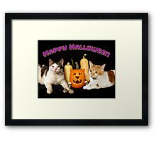 Happy Halloween with Max & Tori Framed Print