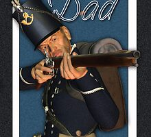 Father's Day Card - Hussar Foot Soldier by Moonlake