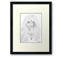 Blue Swan Woman Framed Print