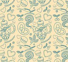 Tea party seamless pattern by julkapulka