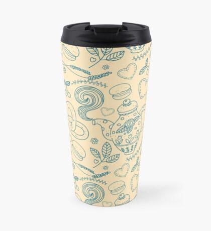 Tea party seamless pattern Travel Mug