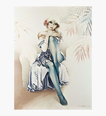 """Blue Ice"" Portrait in Oils Photographic Print"