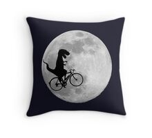 T-Rex loves riding in the sky Throw Pillow