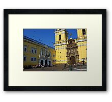 Church in Downtown Lima Framed Print
