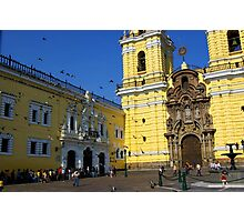 Church in Downtown Lima Photographic Print