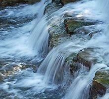 Chalk Creek Falls by Bill Morgenstern