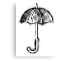 Umbrella Black Canvas Print