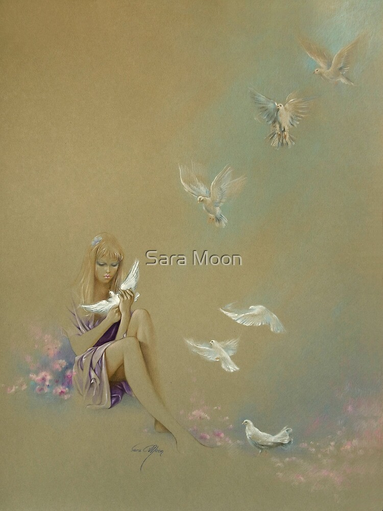 """Freedom"" Pastel Pencil Artwork by Sara Moon"