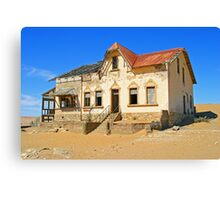 House in ghost town of Kolmanskuppe Canvas Print