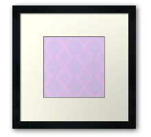 Pink and Magenta Geometry Framed Print