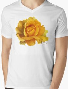 Yellow Rose Mens V-Neck T-Shirt