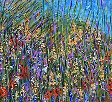 Sea grass 2- wildflower landscape, original art by artbykatsy