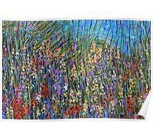 Sea grass 2- wildflower landscape, original art Poster