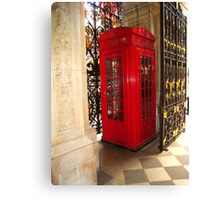 Fancy Phone Booth Canvas Print