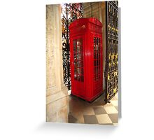 Fancy Phone Booth Greeting Card