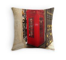 Fancy Phone Booth Throw Pillow