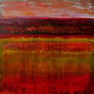 Seeing in the Almost Dark, mixed media on canvas by Sandrine Pelissier
