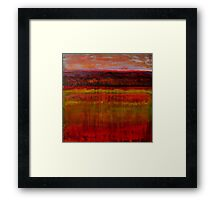 Seeing in the Almost Dark, mixed media on canvas Framed Print